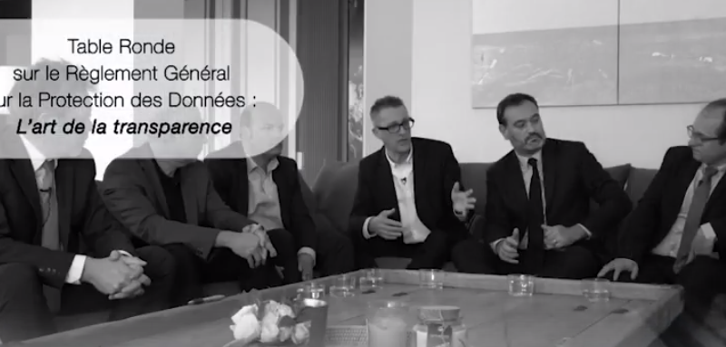 Table Ronde RGPD – L'art de la transparence